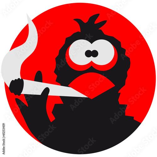 Leinwandbild Motiv High Smoke Pot Joint Raven