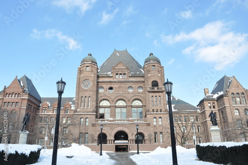 Parliament Building of Province of Ontario in Toronto