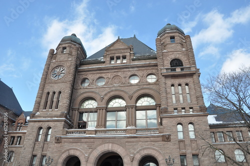Province of Ontario Parliament Building in Toronto