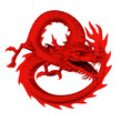 Red dragon circle