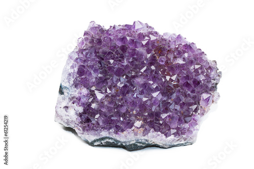 Amethyst on white isolated background
