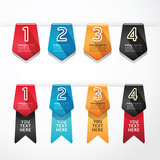 Modern Design button banners number vector illustration