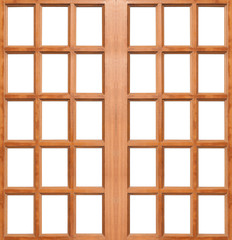 Wooden door isolated