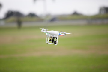 Stock image of a quadcopter in flight