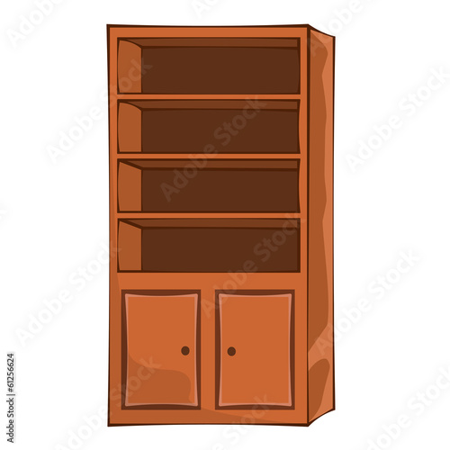 wooden lockers isolated illustration