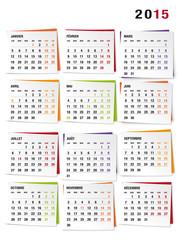 Calendrier 2015 (avec jours fériés)