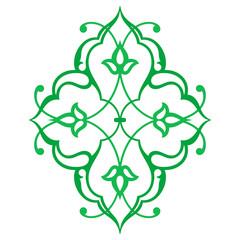 Arabic oriental ornament, floral pattern motif, arabesque.