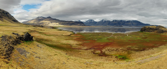 Iceland.  beautiful mountain landscape in Lonsoraefi mountains
