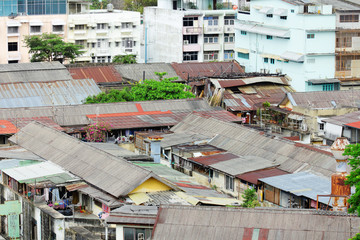 Slum area in Thailand