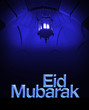 Beautiful greeting card for Eid Mubarak festival