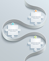 Abstract part of puzzles elements infographic steps