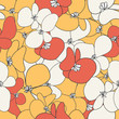 Cute flower background. Seamless pattern