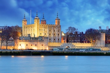 Tower of London at night, UK