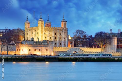 Tower of London at night, UK