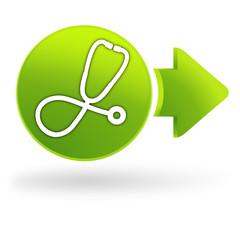 médecine sur symbole web vert