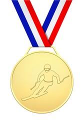 Médaille d'or skieur français