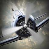 Propeller plane.