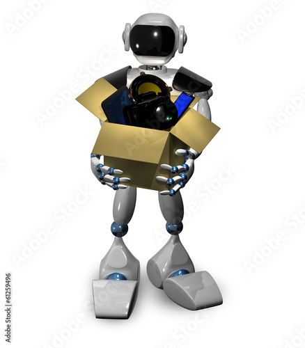 Robot with box
