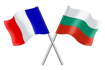 Drapeaux : duo France Bulgarie