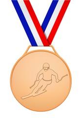 Médaille de bronze skieur français