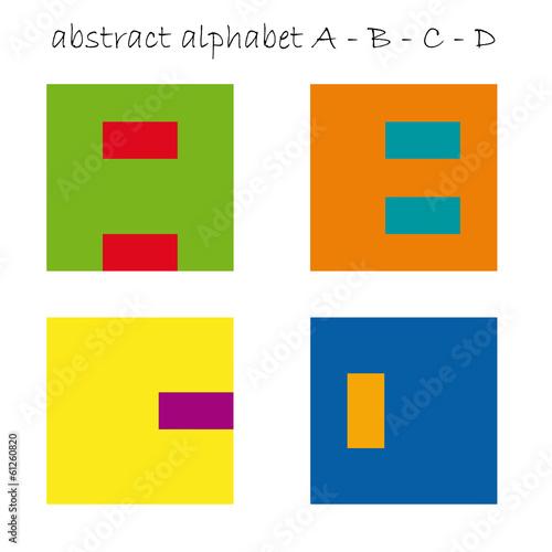 Vector color logo initial letter A, B, C, D