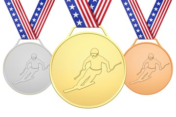 USA medals with skier