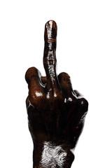 Obscene Middle Finger Hand Gesturing