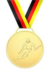 Goldene Medaille deutscher Skiläufer