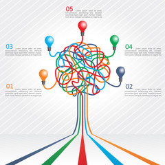 Concept of colorful tree for business design