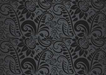 Retro floral wallpaper. Seamless