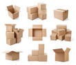 cardboard box package moving transportation delivery - 61262821