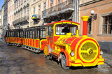 Train for trips to the Rynok Square in the center of Lviv Februa