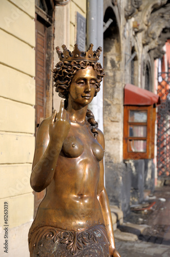 LVIV; UKRAINE - February 05: Sculpture - Nympha Melusine on Febr