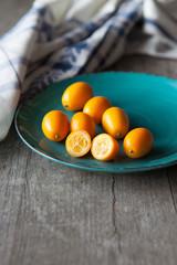 Raw kumquats