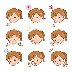 女の子/表情