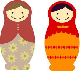Matryoshka dolls vector illustration