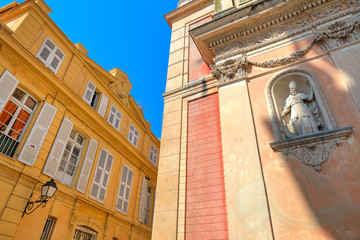 Architectural details in Menton, France.