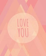 Abstract Valentine's Day Design