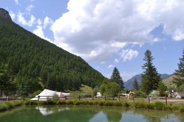 kamperen op een Franse bergcamping
