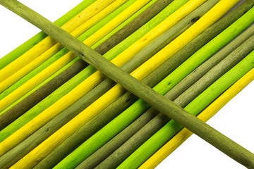 Colored sticks for use as a background picture.