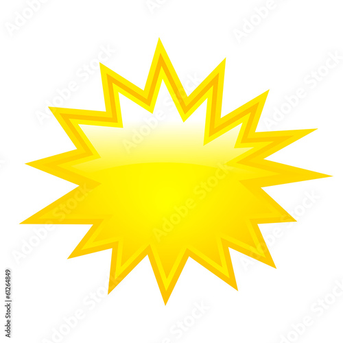 Yellow bursting star