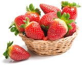 Strawberries in  the basket