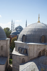 blue mosque view from Hagia Sophia