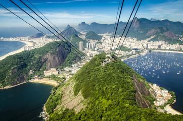 Blick vom Zuckerhut, Rio, Brasilien