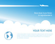 Airplane background - 61265411
