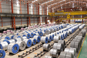 Steel Rolls in factory