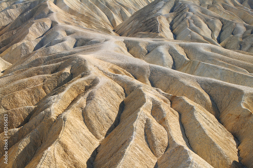 Heavily Eroded Ridges in golden canyon, Death Valley National Pa