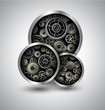 Abstract background 3D with technology gears