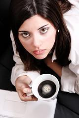 Mit Kaffee