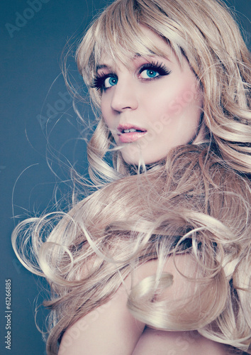 canvas print picture fashion light leak 14 / stunning blonde